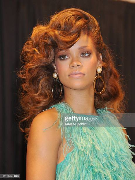 Rihanna launches her new scent 'Reb'l Fleur' at House of Fraser on August 19 2011 in London England