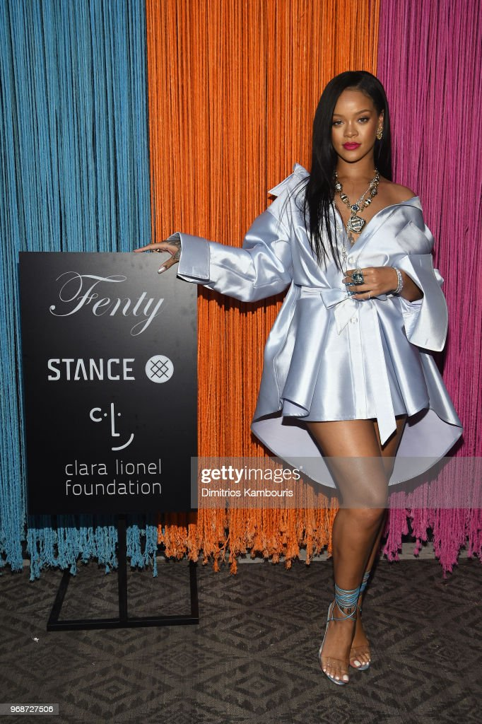 Rihanna Makes Appearance At Stance For Clara Lionel Foundation : News Photo