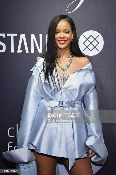 Rihanna makes an appearance at Stance for the Clara Lionel Foundation on June 6 2018 in New York City