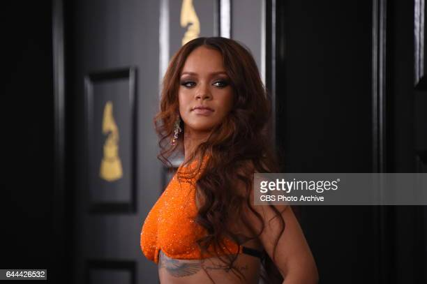 Rihanna on the Red Carpet at THE 59TH ANNUAL GRAMMY AWARDS broadcast live from the STAPLES Center in Los Angeles Sunday Feb 12 on the CBS Television...