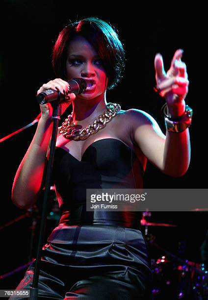 Rihanna onstage during her performance at the Capitalive held at the Scala on August 24, 2007 in London.