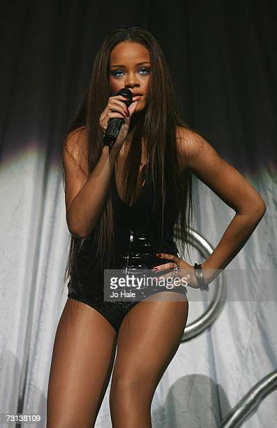 Rihanna opens for the Pussycat Dolls at the Wembley Arena on January 28 2007 in London England