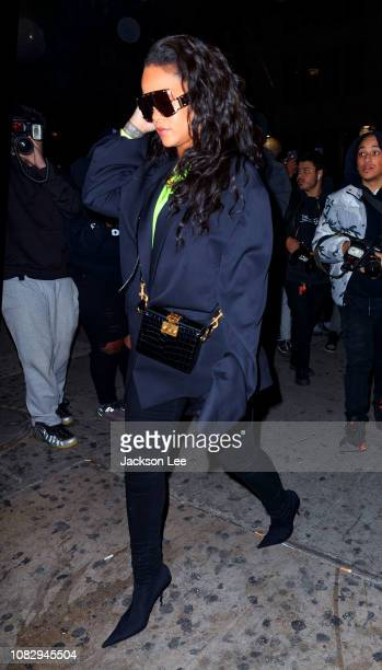Rihanna out and about on January 15 2019 in New York City