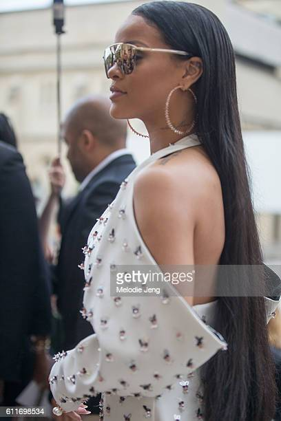 Rihanna outside the Dior show at Musee Rodin on September 30 2016 in Paris France