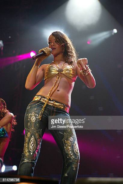 Rihanna performing live on stage at the T4 Poll Winners' Party 2005 With Smash Hits at Wembley Arena Pavilion on November 20th 2005 in London England...