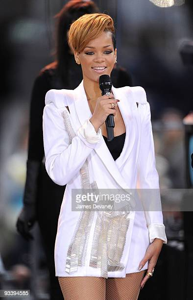 Rihanna performs ABC's 'Good Morning America' at ABC Studios on November 24 2009 in New York City