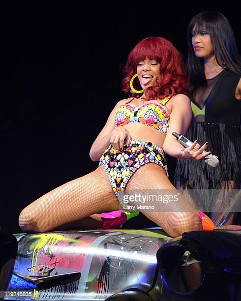 Rihanna performs at BankAtlantic Center on July 14 2011 in Sunrise Florida