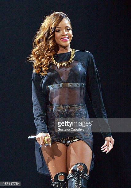Rihanna performs at BBT Center on April 20 2013 in Sunrise Florida