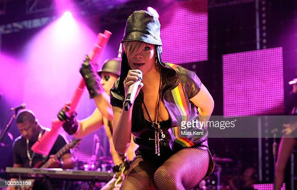 Rihanna performs at Day 2 of Radio 1's Big Weekend on May 23 2010 in Bangor Wales