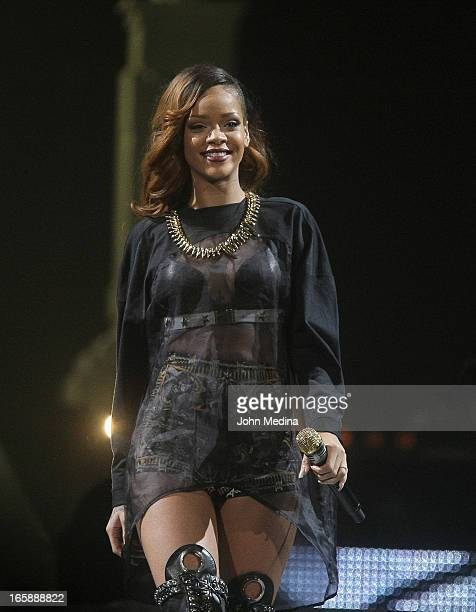 Rihanna performs at HP Pavilion on April 6, 2013 in San Jose, California.