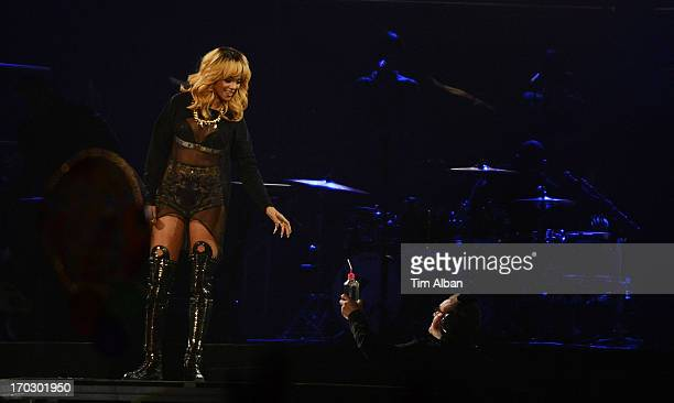 Rihanna performs at Millennium Stadium on June 10 2013 in Cardiff Wales