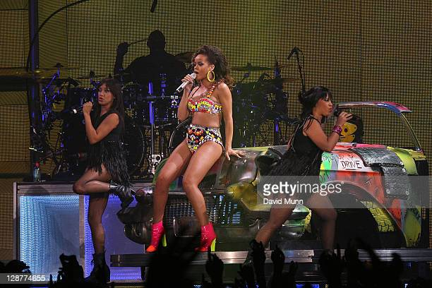 Rihanna performs at The Liverpool Echo Arena on October 7 2011 in Liverpool England