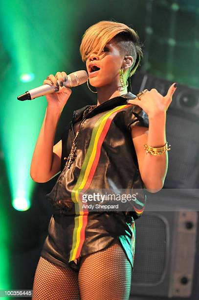Rihanna performs during day two of BBC Radio 1's Big Weekend on May 23 2010 in Bangor Wales