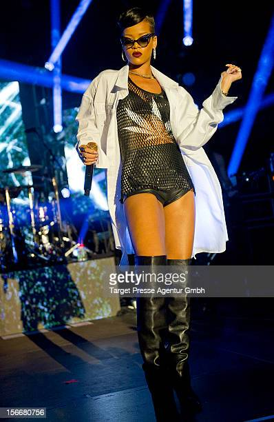 Rihanna performs during her 777 tour at EWerk on November 18 2012 in Berlin Germany