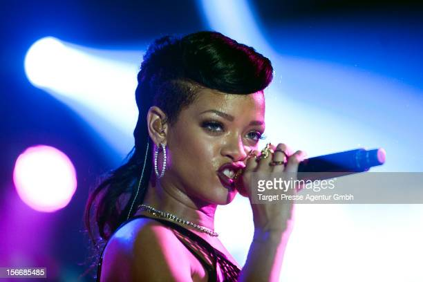 Rihanna performs during her 777 tour on November 18 2012 at EWerk in Berlin Germany