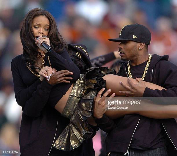 Rihanna performs during the halftime show of the 2006 Brut Sun Bowl contested bewteen Oregon State and Missouri at Sun Bowl Stadium in El Paso Texas...