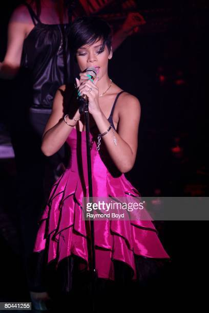 "Rihanna performs in ""Girls Night Out"" at Visions Nightclub in Chicago on March 26, 2008."