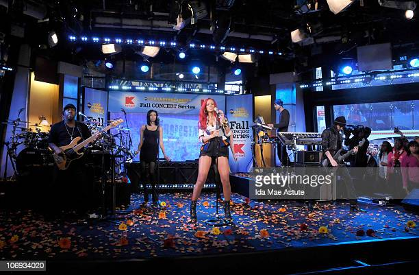 AMERICA Rihanna performs live as part of the GMA Fall Concert Series on GOOD MORNING AMERICA 11/17/10 airing on the ABC Television Network GM10...