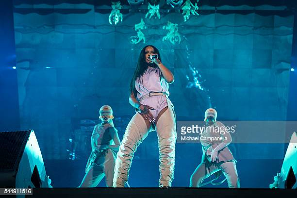 Rihanna performs live at Tele2 Arena on July 4 2015 in Stockholm Sweden