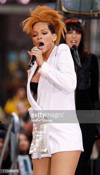 Rihanna performs on stage during ABC's 'Good Morning America' on November 24 2009 in New York City