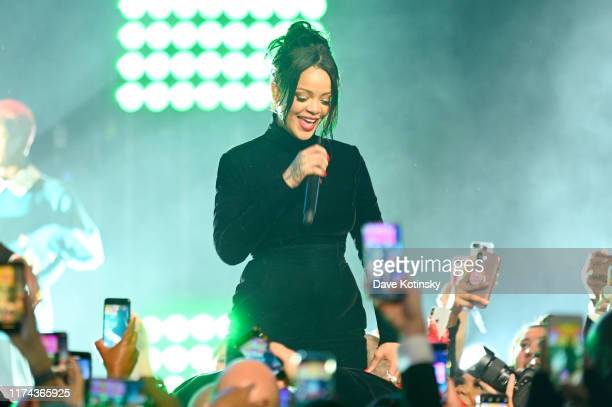 Rihanna performs onstage during Rihanna's 5th Annual Diamond Ball Benefitting The Clara Lionel Foundation at Cipriani Wall Street on September 12,...