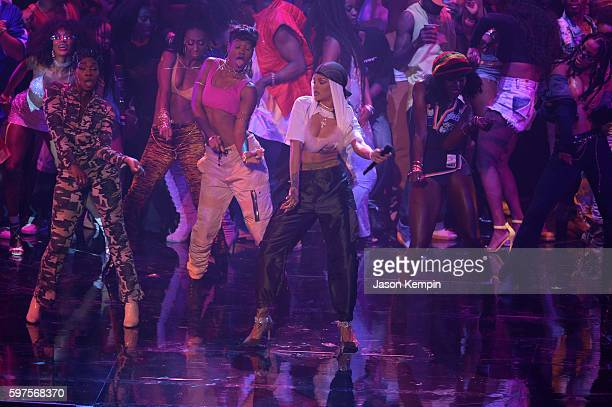 Rihanna performs onstage during the 2016 MTV Video Music Awards at Madison Square Garden on August 28 2016 in New York City