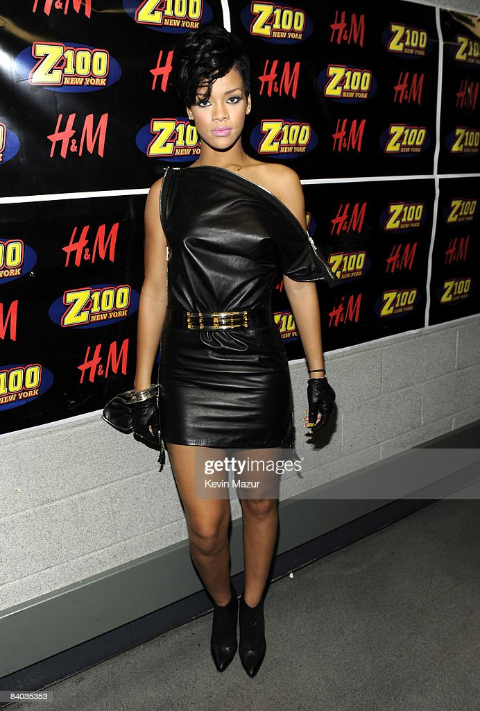 Rihanna poses backstage during Z100's Jingle Ball 2008 Presented by H&M at Madison Square Garden on December 12, 2008 in New York City. *EXCLUSIVE*
