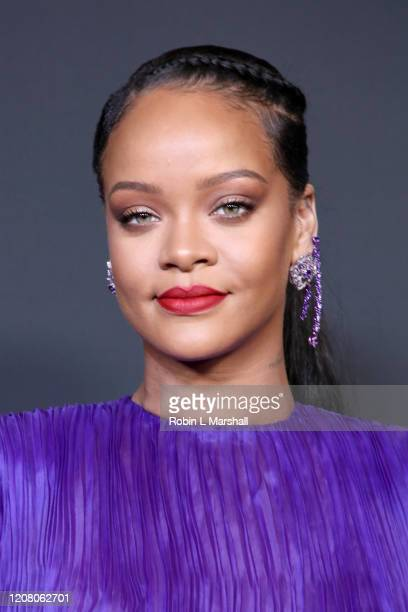Rihanna poses with the President's Award at the 51st NAACP Image Awards Presented by BET at Pasadena Civic Auditorium on February 22 2020 in Pasadena...