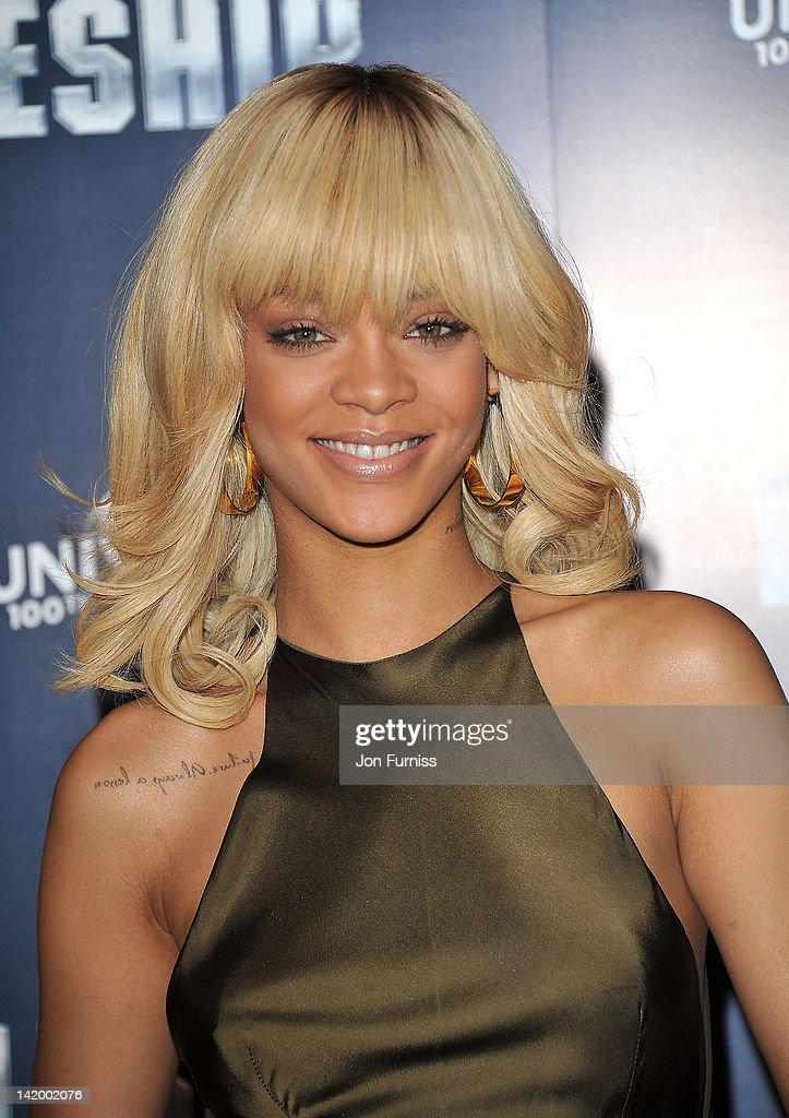 Rihanna promotes the film Battleship at Corinthia Hotel London on March 28, 2012 in London, England.