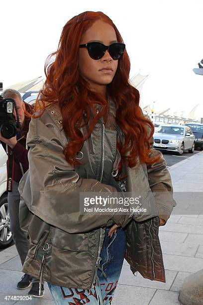 Rihanna seen at Heathrow Airport on May 27 2015 in London England