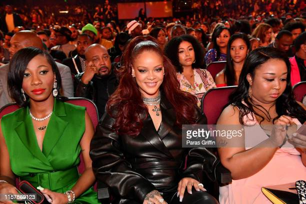 Rihanna seen in the audience at the 2019 BET Awards at Microsoft Theater on June 23 2019 in Los Angeles California