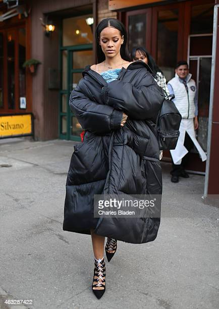 Rihanna seen leaving Da Silvano restaurant on February 12 2015 in New York City