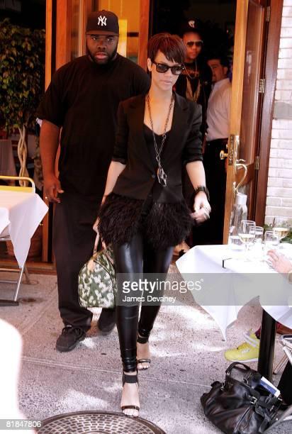 Rihanna seen leaving Da Silvano restaurant on June 20 2008 in New York City