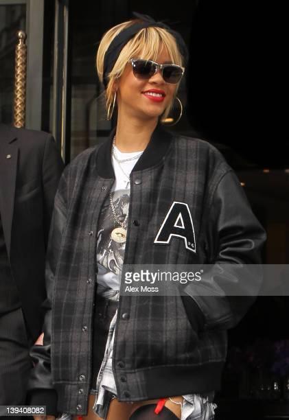 Rihanna seen leaving her hotel on February 20 2012 in London England