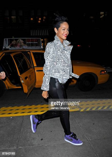 Rihanna seen on the streets of Manhattan on May 18 2009 in New York City