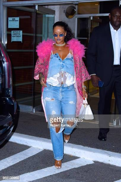 Rihanna seen out and about in Manhattan on May 5 2018 in New York City