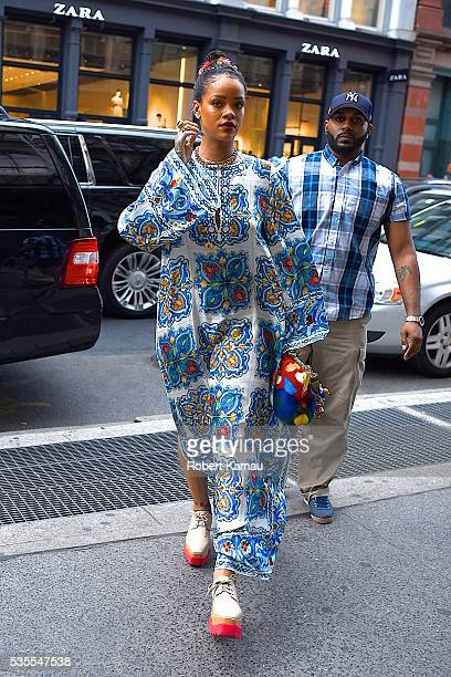 Rihanna seen out and about in SoHo on May 29 2016 in New York City