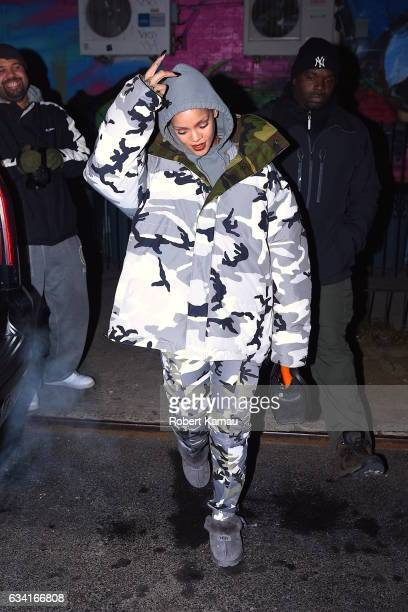 Rihanna seen out in Manhattan on February 7 2017 in New York City