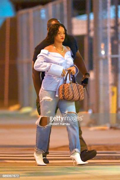 Rihanna seen out on a Memorial Day weekend in Manhattan on May 28 2017 in New York City