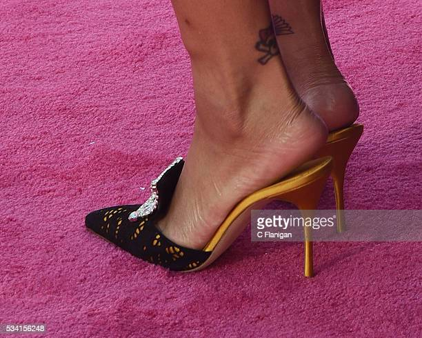 Rihanna shoe detail attends the 2016 Billboard Music Awards at TMobile Arena on May 22 2016 in Las Vegas Nevada
