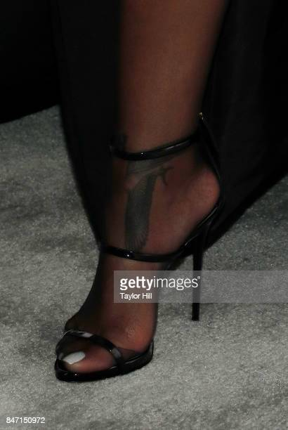 Rihanna shoe detail attends the 2017 Diamond Ball at Cipriani Wall Street on September 14 2017 in New York City
