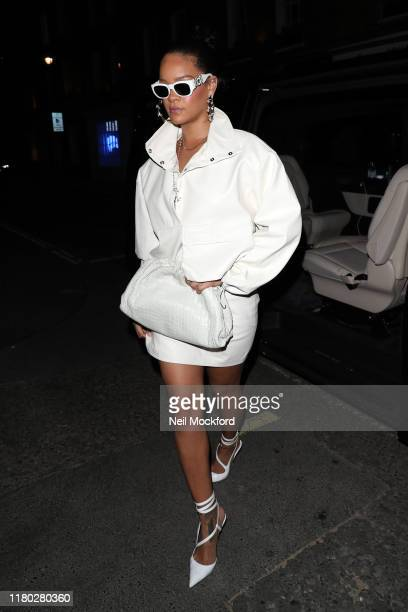 Rihanna sighting at Fabergé event on October 10 2019 in London England