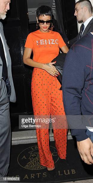 Rihanna sighting at The Arts Club sighting on September 9 2012 in London England