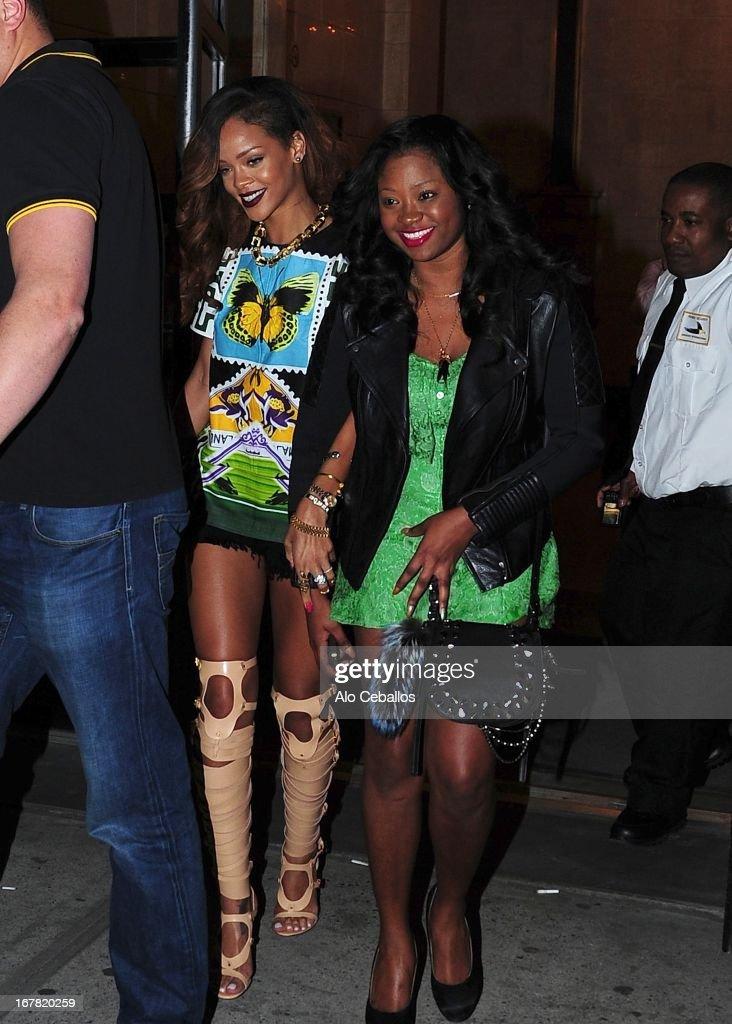 Rihanna sighting on April 30, 2013 in New York City.