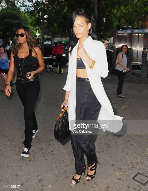 Rihanna sighting on the streets of Manhattan on May 13 2012 in New York City