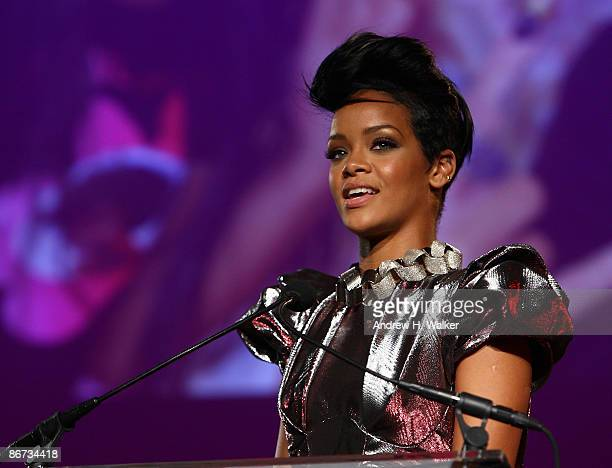 Rihanna speaks at DKMS' 3rd Annual StarStudded Gala at Cipriani 42nd Street on May 7 2009 in New York City