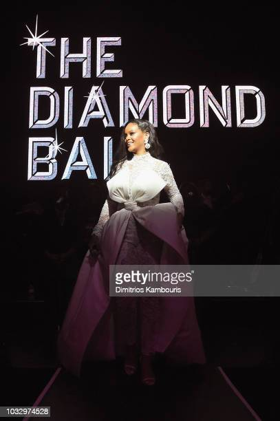 Rihanna speaks onstage during Rihanna's 4th Annual Diamond Ball benefitting The Clara Lionel Foundation at Cipriani Wall Street on September 13 2018...