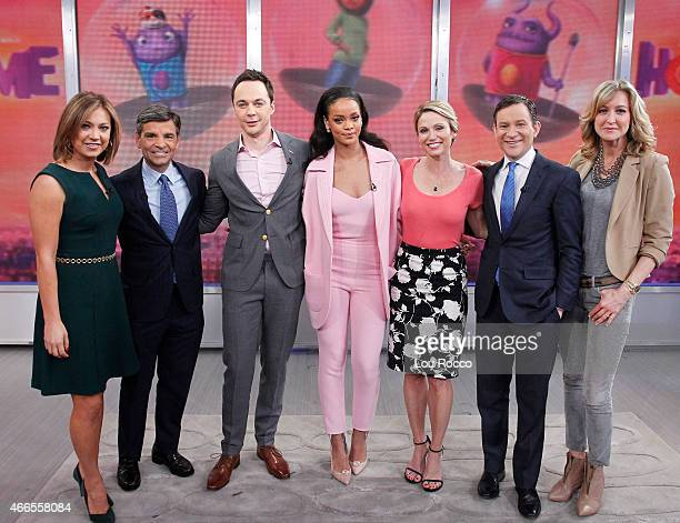 """Rihanna, Steve Martin and Jim Parsons are all guests on """"Good Morning America,"""" 3/13/15, airing on the Walt Disney Television via Getty Images..."""