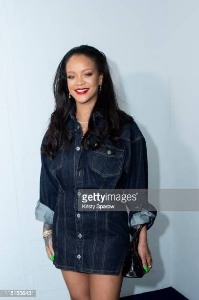 Rihanna surprises her fans at the opening of the FENTY Pop Up Store on May 24 2019 in Paris France