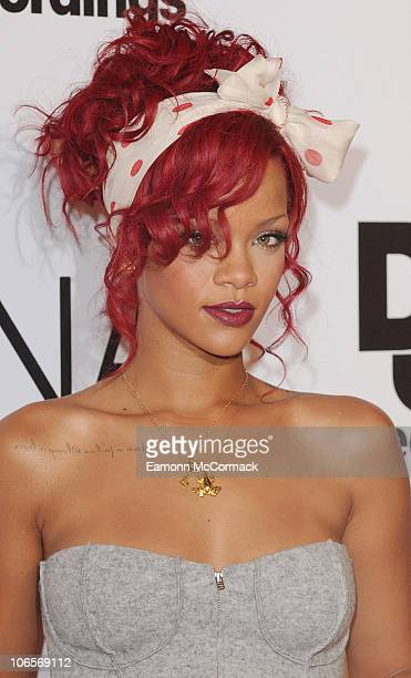Rihanna turns on the Christmas lights at Westfield shopping centre on November 4, 2010 in London, England.